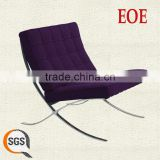 purple fabric chair leather sofa with footrest sofa with footrest