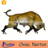 Hand crafts Outdoor Yellow cast brass bull sculpure NTBA-B030Y