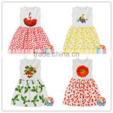 New Style Children Girls Short Sleeve Frock Design White Dress Party Vintage Clothes Dress
