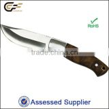 Unique high quality 3Cr13 stainless steel fixed blade figured sycomore handle hunting knife/knives