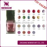 Profesional hot sale diamond powder Nail Polish Bottled