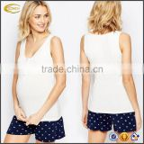Ecoach Wholesale OEM Pregnancy Women Maternity Breastfeeding Clothing Nursing Tank Top V Neck Button Front nursing tops
