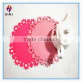 wholesale felt woven blank round laser cut placemat