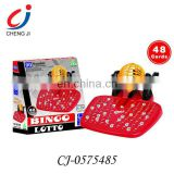 Kids plastic electric bingo toy game lotto with 90 numbers and card
