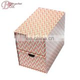 Popular functional office & school supplies cardboard stationery box with drawers