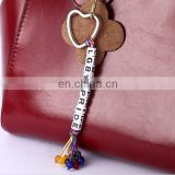 DIY letter beads bag charms name letter beads keychain inspired words letter keychain gifts