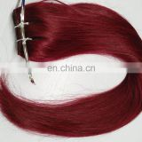 wholesale indian remy braid hair, 10-30 inch remy human hair weft, burgundy remy hair weave