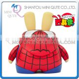 Mini Qute Mask Bear 6.5cm Marvel spiderman super hero Kawaii plastic reloading action figures Cartoon toy car Decoration dolls