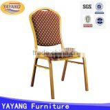 stacking metal catering space saving dining banquet restaurant chair for hotel furniture