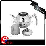 High quality stainless steel thermo tea coffee pot/ tea pot with tea strainer