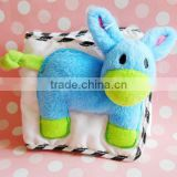 Plush Animal Toy Cover of Cloth Book/Mini Cloth Book with Soft Animal/10*10cm Cloth Book for Baby