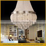 house interior decoration Modern crystal pendant lighting chandlier with CE/ROHS/FCC, D048/13