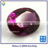 precious synthetic pigeon blood oval red ruby for jewelry