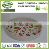 hot selling biodegradable bamboo fiber silicon baby food freezer tray