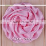 decorative fabric flowers for clothing -Satin Rolled Flower for Decoration - silk fabric rose flower for wedding decoration