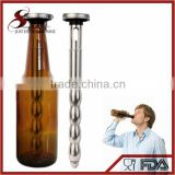 NT-PC16 beer bottle drink cooler BPA free and reusable metal beer chiller with pourer function