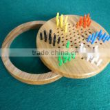peg board checker game set/wooden board chinese checkers/magnetic chinese checkers travel game