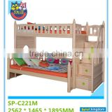 Guangdong stable supply kids wooden bunk bed with staircase and under crib adjustable#SP-C221M