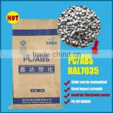 Modified Plastic Raw Material PC/ ABS Resin Black color Virgin/Recycled grade PC+ABS plastic granules/pellets