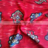 cheap price flower border print 100% viscose and tr shirt fabric