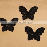 butterfly pattern hand made hollow embroidery chemical lace applique for accessory