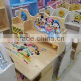 kids wooden study table and chair/wooden kids furture/learning table