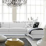 2013 New Europe Moden Simple 1+2+3 Genuine Cattle Leather Sofa Classic Black and White latest design sofa set 9108