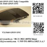 VX-F660 GPON ONU Home Gateway, 4GE, VoiP, 802.111n and more (fully Compatible with ZTE F660); Contact: sherry@versatek.cn