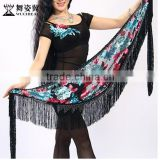 2015 Wuchieal sex Indian belly dance scarf with tassel from China(YL201)