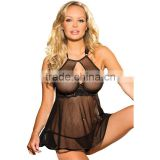 Plus Size Lingerie Lace Halter Babydoll Nightie US Dress 22 24