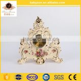 Babyzon New products decoration table watch clock antique ceramic clock