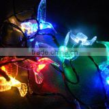 free shipping 10 Swallows Leds +4.5M lenght Cable Colorful solar string light using for christmas,festival decoration