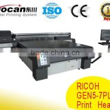 New Ricoh gen5 print head digital flatbed printing machine/ uv printer on glass acrylic wood display panel                                                                         Quality Choice