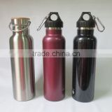 BPA Free Wide Mouth Insulated double wall Stainless Steel Water Bottle in different lids