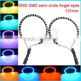 New car accessories 9v 15v 5050 smd color changing halo rings, 131mm black pcb halo buld light                                                                         Quality Choice