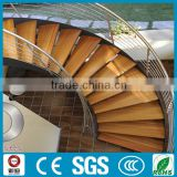 modern residential steel wood curved stair