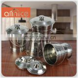 Stainless steel kitchen equipment used multi soup stock pot with S/S lid and silver line