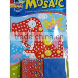 kids toy sticky mosaic art set Dinosaur