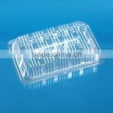 Disposable PS plastic food box for baked foods and biscuits