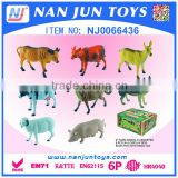 popular 8 pieces farm animal toy set for kids