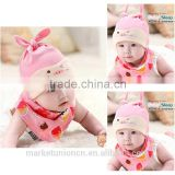 100 cotton knit baby beanie hat animal sleep baby hat baby turtleneck/ bib