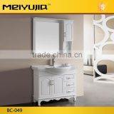 BC-049 White color morden style european bathroom solid wood used bathroom vanity cabinets