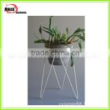 Outdoor garden decor vintage wholesale metal flower rack plant stand iron steel weave plant display rack