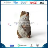 Customized Lovely Mouse Animal Statue, Polyresin Hamster Ornament, Resin Cute Bamboo Rat Figurine