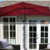 10' Patio Half Umbrella Wall Balcony Sun Shade Garden Outdoor Parasol Banana umbrella Type Cantilever Patio parasol Umbrellas