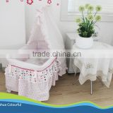 foldable metal rocking baby crib bed cotton beddings small quantity low price