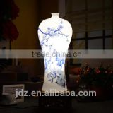 Oriental Blue and White Porcelain Vase Table Lamp