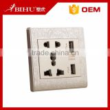 2.1A dual USB universal wall socket usb charger AC Power Receptacle Outlet Plate Panel Station