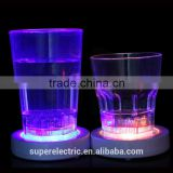 High quality new design promotional gifts lighting cup mat round shape led light drink coasters                                                                         Quality Choice