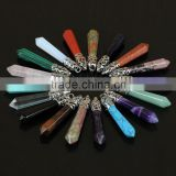 Wholesale Bullet Shape Natural Quartz Stones for Jewelry Making Crystal Gemstone Healing Point Pendants